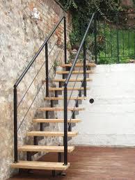 treppen stahl holz chestha design garten treppe