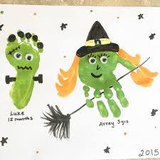 halloween pic art halloween handprint art leah with love