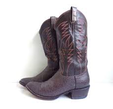 mens cowboy boots size 11 leather boots 70s boots brown u0026 gray