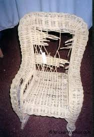i have a lovely old wicker rocker in need of repair this is a