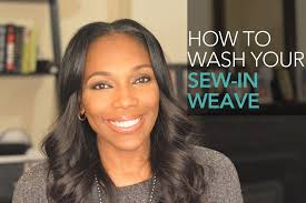best way to sew in a weave for long hair how to wash your sew in weave youtube