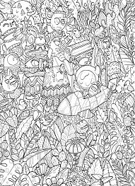 doodle coloring book doodles in outer space coloring book by