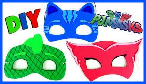 easy to make halloween masks pj masks disney mask diy easy as 1 2 3 catboy owlette gekko