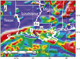 Map Of Texas And Louisiana by Southern Louisiana Salt Dome Xenoliths First Glimpse Of Jurassic