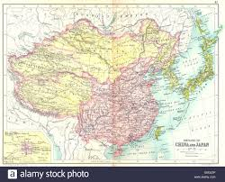 Beijing China Map by China U0026 Japan Empires Inset Beijing Peking Tibet Mongolia Stock