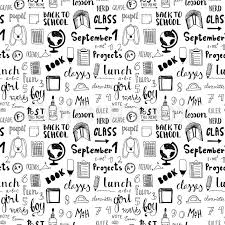 doodle vectors free back to school doodle vector pattern free style