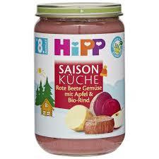 saisonküche hipp saison küche bio rote beete gemüse mit apfel bio rind