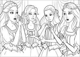 Dessin de coloriage Barbie à imprimer  CP03014