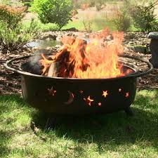 Wood Burning Firepit by Large Outdoor Firepit 34 Diameter Bowl 23 High Wood Burning Fire