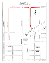Chicago Parking Zone Map by What To Know About Those New Parking Meters Around Uwsp