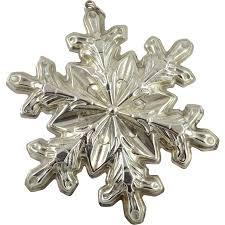 vintage gorham sterling silver snowflake ornament 1973