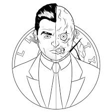 coloring pages two face printable for kids u0026 adults free