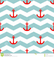 tile sailor vector pattern with red anchor on white and blue