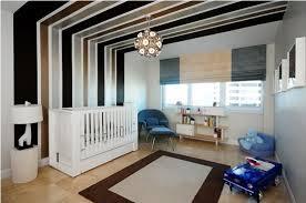 plafond chambre bébé decoration déco contemporaine rayure plafond mur chambre bébé
