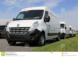 renault vans row of white renault master vans editorial stock photo image