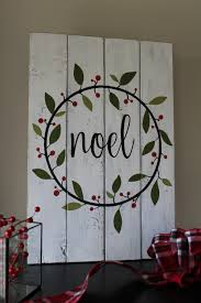 noel sign christmas sign hand painted wood sign christmas