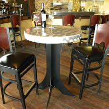 Patio High Top Table by Furniture Round Silver Glossy Outdoor High Top Table With Black