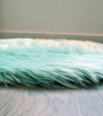 Faux Fur Area Rugs Machine Washable Faux Sheepskin Area Rug Mint U2013 Minted Method Shop