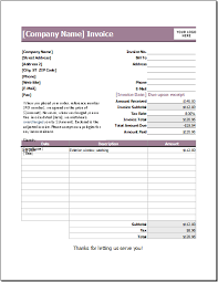 Car Wash Invoice Template by Ms Word Rental Invoice Template Word Excel Templates