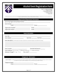 sample event registration forms