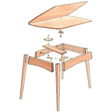 expandable table an expandable table finewoodworking