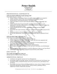 Resume Objective For Barista Medical Records Clerk Resume Objective On Resume For Barista