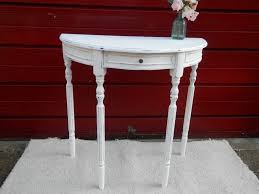 hand painted shabby chic half moon console table in hull east