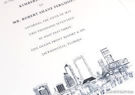 wedding invitations jacksonville fl wedding invitations jacksonville fl jacksonville florida skyline