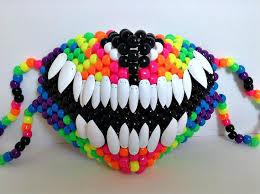 kandi mask wolf mask w teeth by jinxyjess kandi photos on kandi patterns