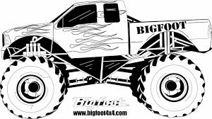 free printable monster truck coloring pages for kids inside