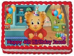daniel tiger cake daniel tiger edible cake topper birthday decorations ebay