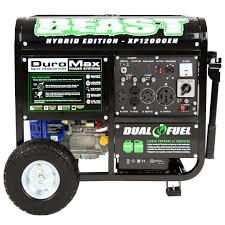duromax 12000 watt 18hp portable hybrid gas propane generator rv