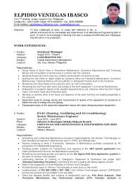 Maintenance Engineer Resume Ibasco Elpidio Resume Pdf