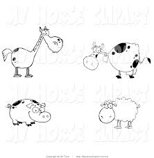 royalty free stock horse designs of cows