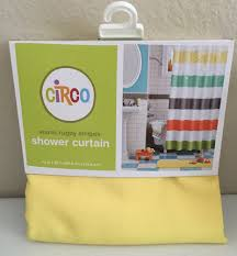 Yellow Nursery Curtains by Circo Warm Rugby Stripes Shower Curtain Orange Yellow Green Target