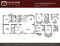 schult modular home floor plans schult independence 4828 76 4 excelsior homes west inc