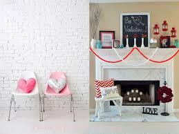 decorations valentine u0027s day home decorations on white fireplace