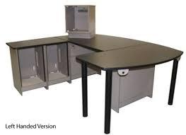 Left Handed Desk Graham Studios Radius 1r Rxpc Broadcast Furniture