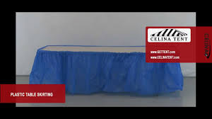 Pleated Table Covers Plastic Table Skirting Youtube