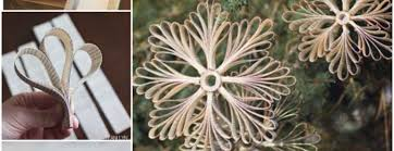 diy paper book snowflake ornaments beesdiy