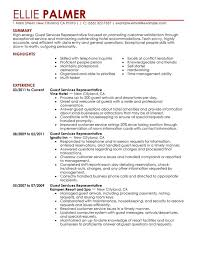 Email Resume Example by Unforgettable Guest Service Representative Resume Examples To