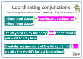 coordinating conjunctions sentence examples by resourcebox
