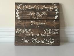 50 wedding anniversary ideas 50 year anniversary 50th anniversary ideas custom wood sign 50th