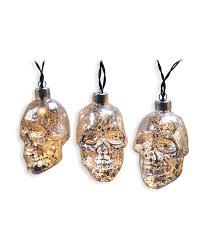 maker u0027s halloween 10ct led mercury glass light set skull joann