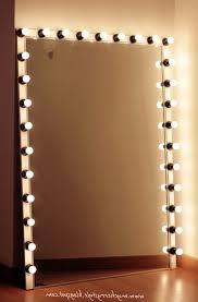 full length mirror with light bulbs cozy ideas light bulb mirror interesting design vanity mirror with