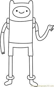 adventure time coloring pages online finn the human coloring page free adventure time coloring pages