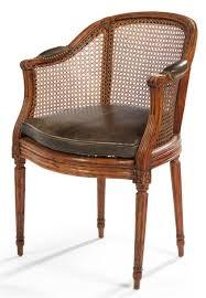 fauteuil a de bureau fauteuil de bureau canné montants à cannelures epoque louis xvi