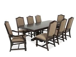 bernhardt pacific canyon coffee bean nine piece dining set