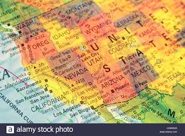 America Map San Francisco by Map North West Usa Close Up Macro Image Of Map North West Stock