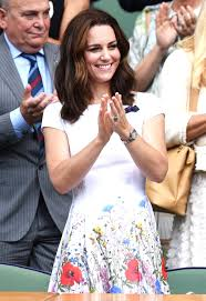 duchess kate and pippa middleton wear matching floral to wimbledon